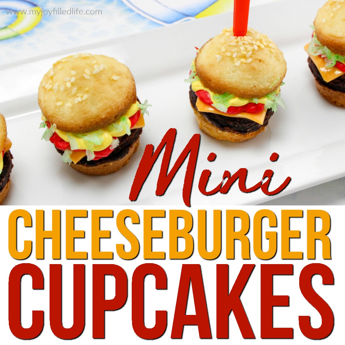 Mini Cheeseburger Dessert Cupcakes